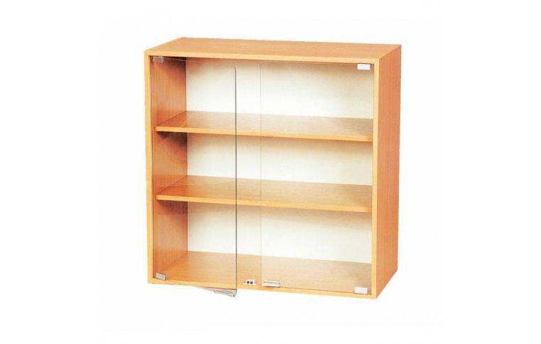 Школьные шкафы: купить Секция верхняя со стекляными дверями С-02 - 1