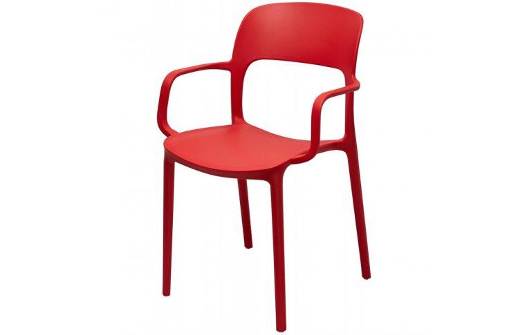 Кухонные стулья: купить Стул Флекси с подлокотником красный - 1
