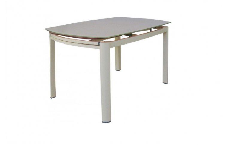Кухонные столы: купить Раскладной стеклянный стол Коралл бежевый - 1
