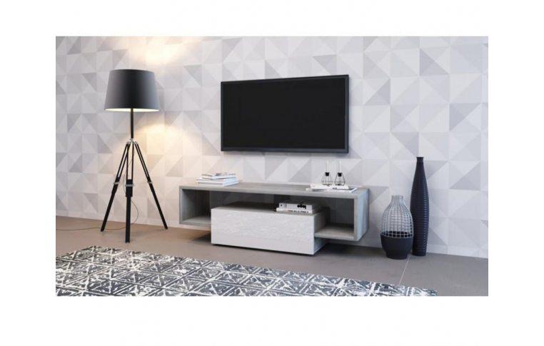 Тумбы под телевизор: купить Тумба под TV Hubertus 140 дуб вудкон/белый глянець Accord - 1