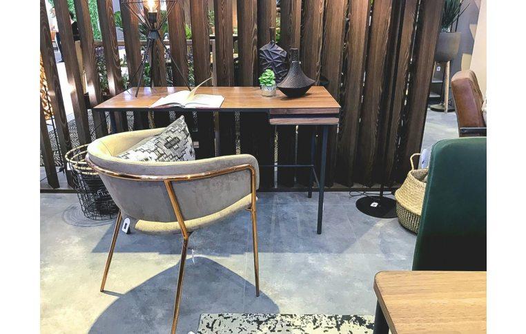 Кухонные стулья: купить Стул Konnie серо-коричневый золото La Forma - 6