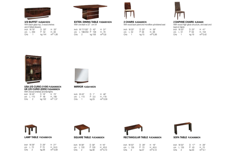Итальянская мебель: купить Столовая в современном стиле Garda - 2