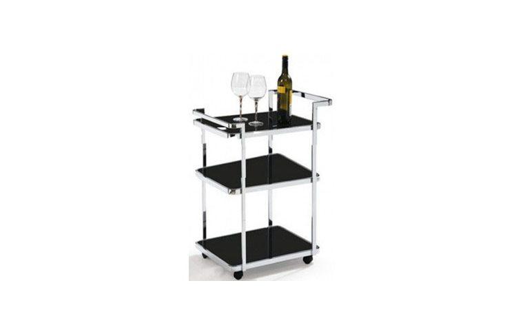 Кухонная мебель: купить Стол сервировочный D6009 черный Exouse - 1
