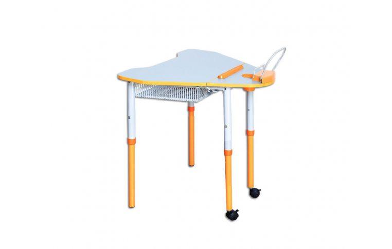 Школьные парты: купить Стол мобильный с регулировкой высоты и наклона столешницы, с полкой - 1