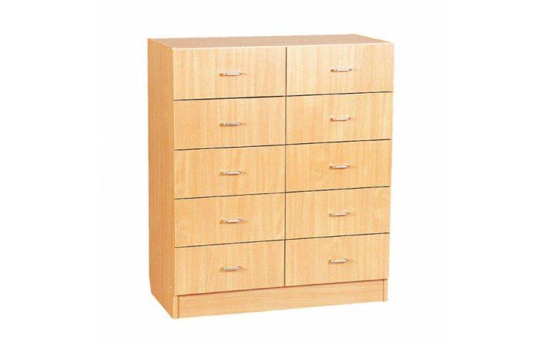 Школьные шкафы: купить Секция с ящиками двойная - 1