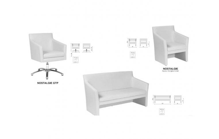 Офисные диваны: купить Диван двухместный Nostalgie DUO H-17 - 2