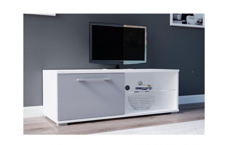 Тумбы под телевизор: купить Тумба под ТВ Moon 100 белый/серый Accord - 1