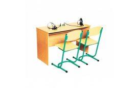 Стол ученический для лингафонного кабинета, двухместный