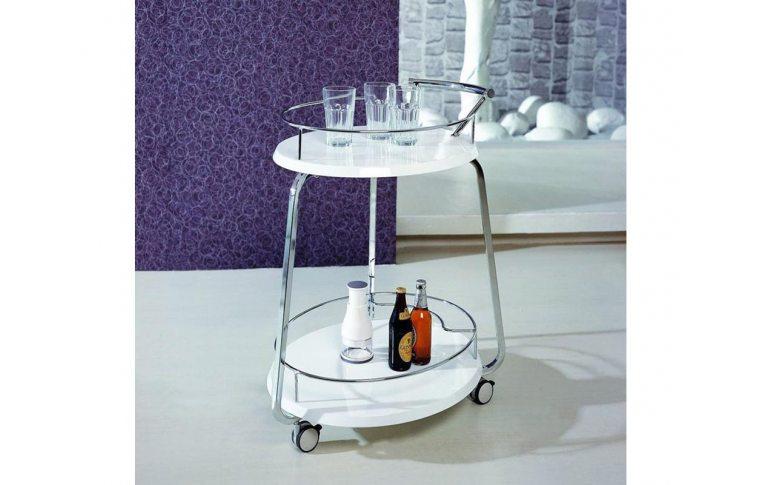 Журнальные столы: купить Стол сервировочный V-323 белый - 1