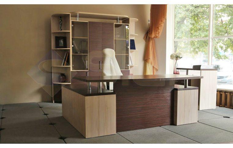 """Офисная мебель: купить Кабинет """"Зебрано"""" ЗК-001 карниз - 3"""