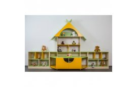 """Мебель для детского сада: купить Стенка """"Теремок"""" -"""