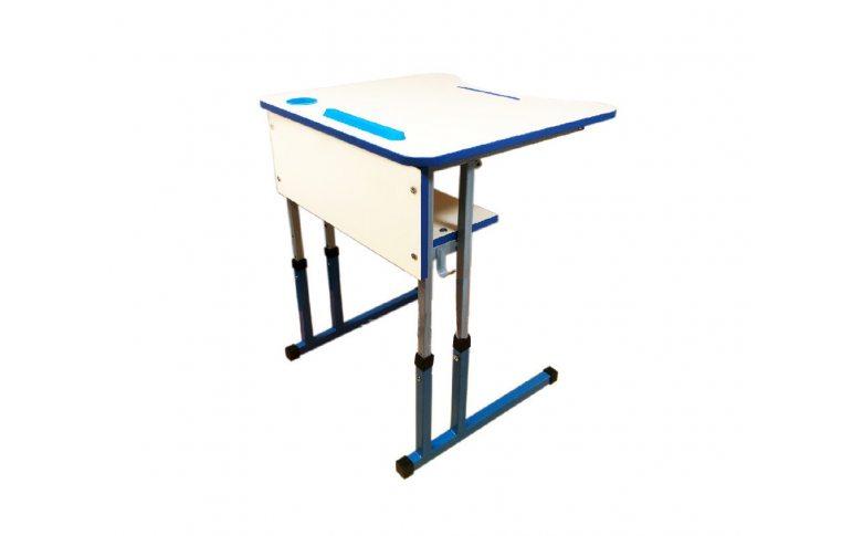 Школьные парты: купить Стол ученический одноместный с регулировкой высоты с регулировкой угла наклона столешницы - 1