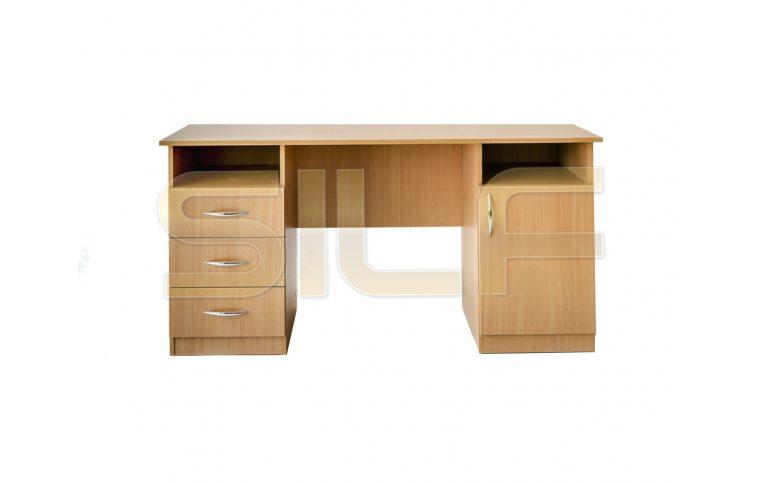 Письменные столы: купить Стол двухтумбовый СД-02 (ДСП бук) - 2