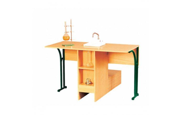 Школьные парты: купить Стол лабораторный для кабинета химии с мойкой - 1
