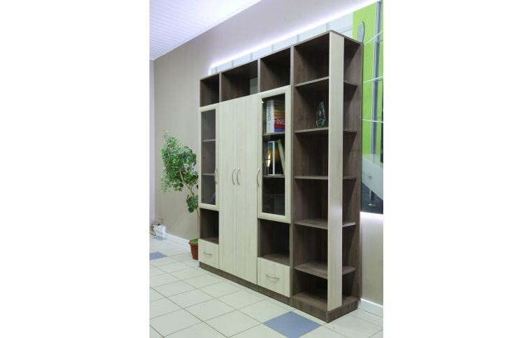 Офисные шкафы: купить Стеллаж финальный кабинета руководителя Сильф Интеграл І-402 - 4