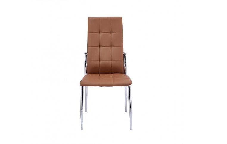 Кухонные стулья: купить Стул Дорис хром, светло-коричневый - 1