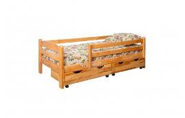 Деревянные кровати: купить Кровать с защитными бортами Зорянка-2