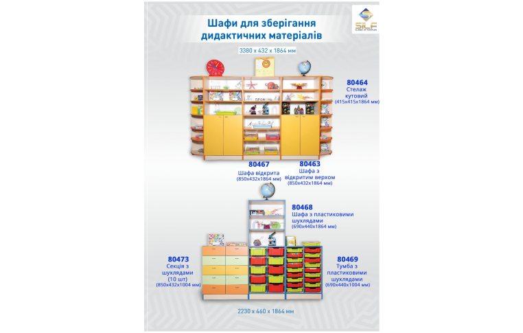 Школьные шкафы: купить Шкаф для хранения дидактического материала - 2