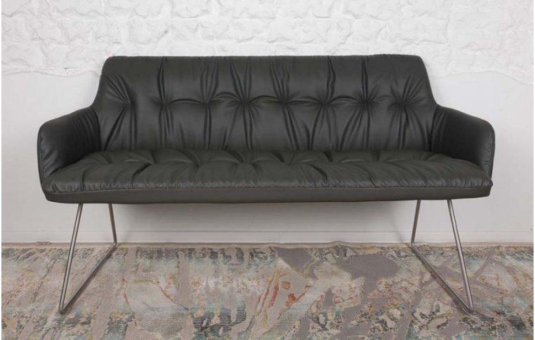 Кресла: купить Кресло-банкетка Leon dark grey (Леон темно-серый) - 1