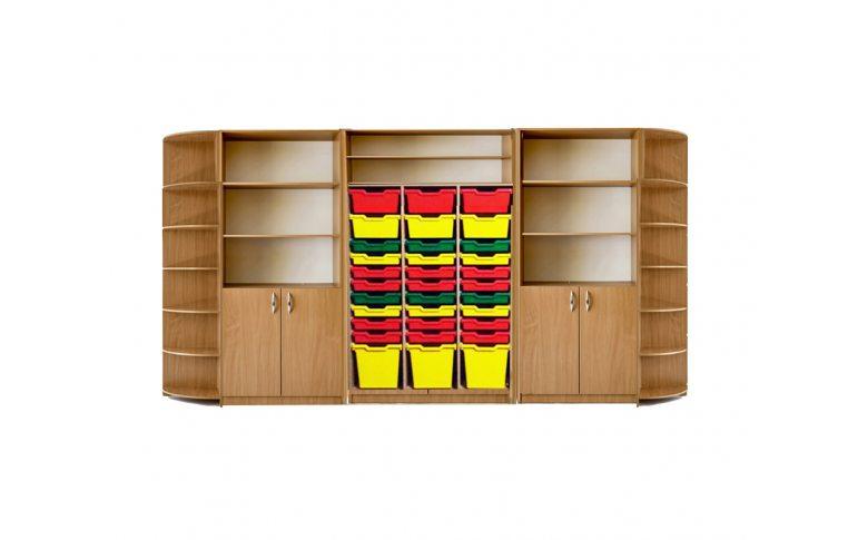Новая украинская школа: купить Шкаф для хранения дидактического материала с лотками Бук - 1