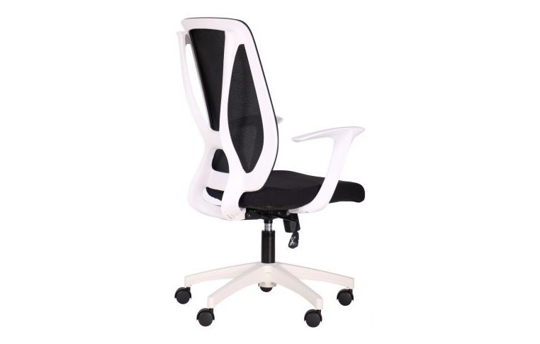 Кресла для руководителя: купить Кресло Nickel White сиденье Сидней 07 спинка Сетка SL-00 черная - 3
