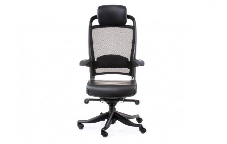 Офисные кресла: купить Кресло FULKRUM BLACK LEATHER, BLACK MESH - 2