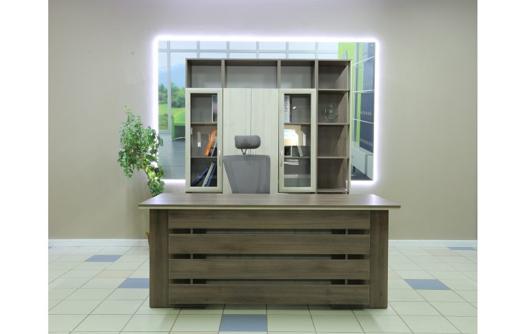 Офисные шкафы: купить Стеллаж финальный кабинета руководителя Сильф Интеграл І-402 - 3