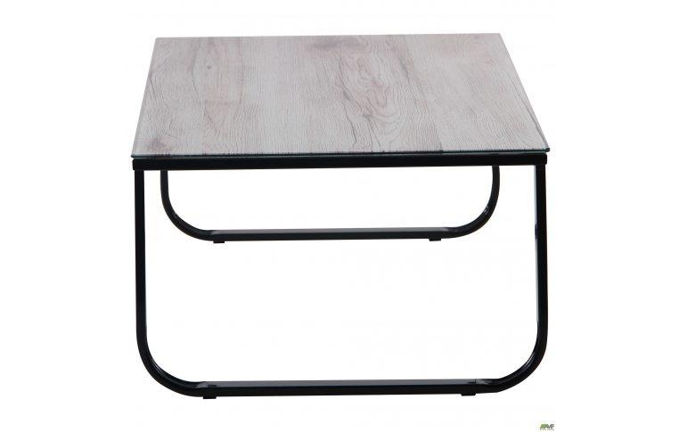 Журнальные столы: купить Стол журнальный Oregon черный/стекло дуб шервуд AMF - 2