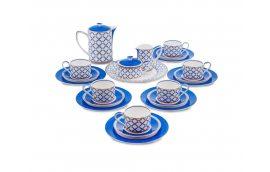 Декор для дома: купить Чайный сервиз из костяного фарфора на 6 персон «Элегантность» JK-92 -