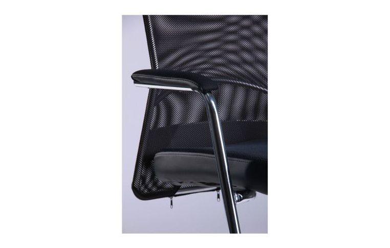 Офисные стулья: купить Стул АЕРО CF хром Неаполь N-20/сетка черная - 4