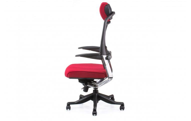 Офисные кресла: купить Кресло FULKRUM DEEPRED FABRIC, BLACK MESH - 3