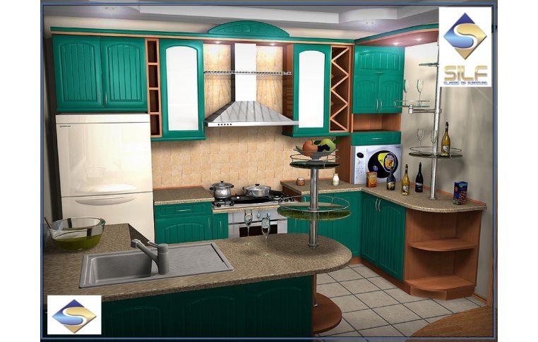 Кухонная мебель: купить Кухня под заказ Бриджит Сильф - 1