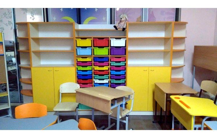 Школьные шкафы: купить Шкаф для хранения дидактического материала с лотками - 3