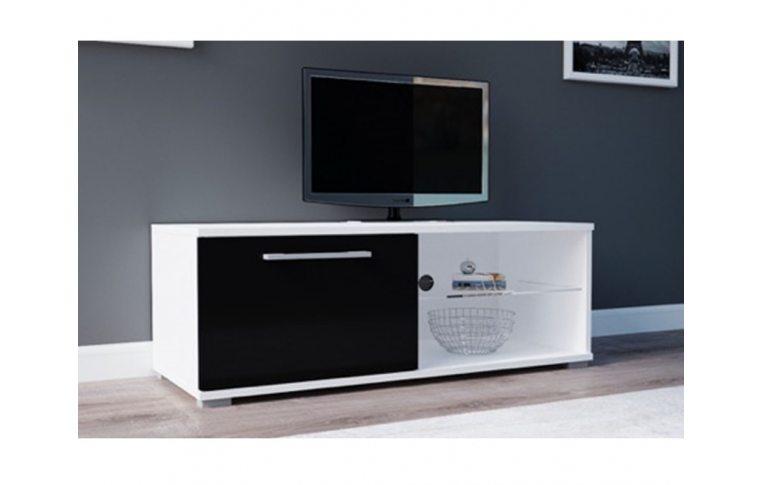 Тумбы под телевизор: купить Тумба под ТВ Moon 100 белый/черный Accord - 1