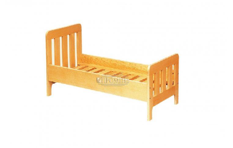 Школьная мебель: купить Кровать детская из натурального дерева - 1