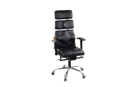 Кресла для руководителя: купить Кресло Pyramid экокожа синий, подголовник