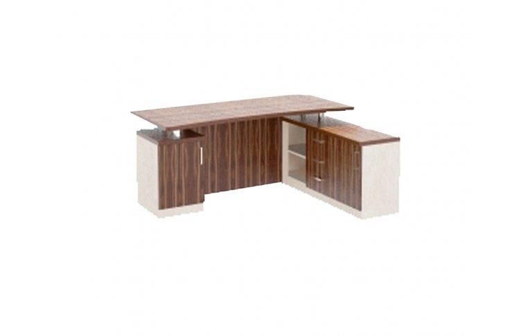 """Столы руководителя: купить Кабинет """"Зебрано"""" З-018 стол руководителя - 1"""