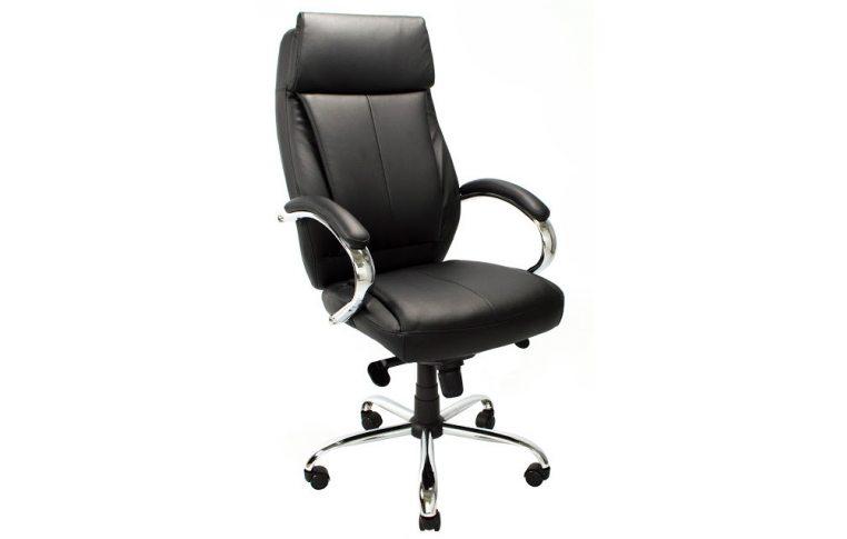 Кресла для руководителя: купить Кресло Монреаль Хром кожзам Richman черный - 1