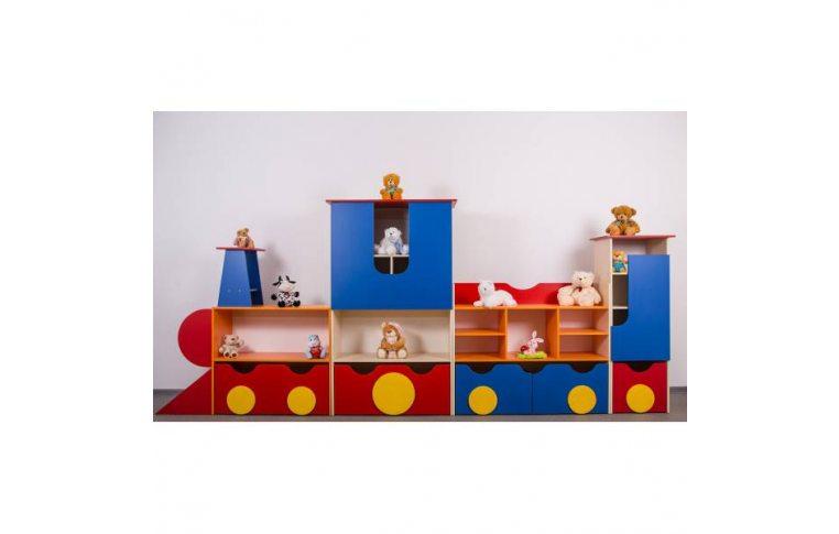 """Мебель для детского сада: купить Стенка """"Путешественник"""" без купе - 1"""