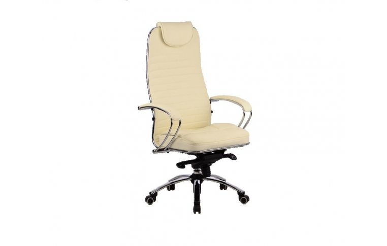 Эргономические кресла: купить Кресло Samurai K-1.02 перфорированная кожа, бежевый - 1