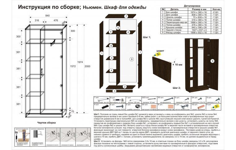 Инструкция по сборке шкаф для одежды