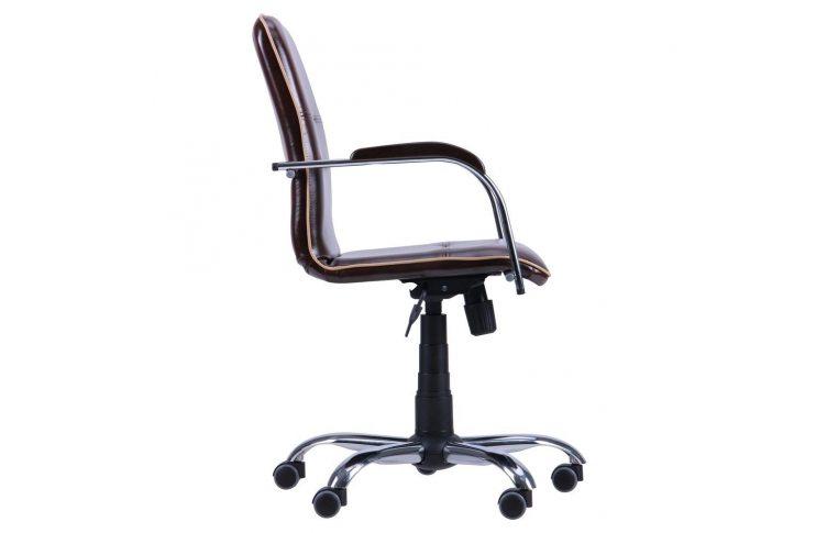 Офисные кресла: купить Кресло Самба-RC Хром орех Мадрас дарк браун с кантом Мадрас голд беж AMF - 2
