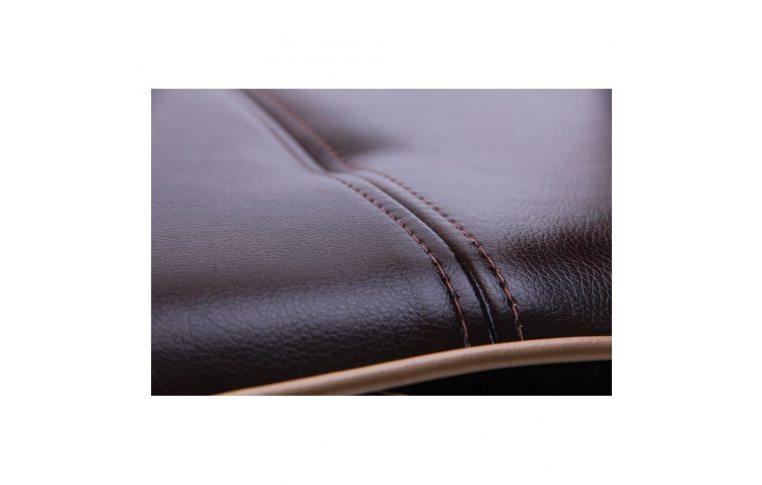 Офисные кресла: купить Кресло Самба-RC Хром орех Мадрас дарк браун с кантом Мадрас голд беж AMF - 7