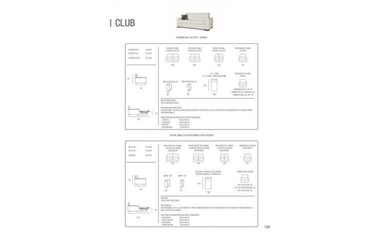 Итальянская мебель: купить Диван трансформер Club Cubo Rosso - 3