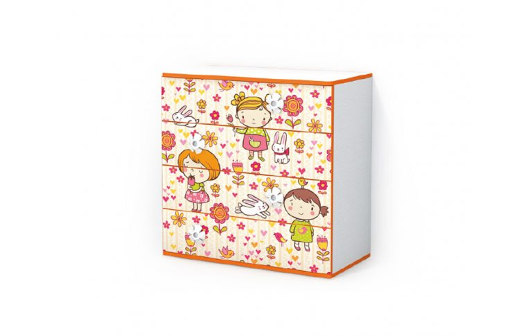Детская мебель: купить Детский комод Мандаринка (Mandarin) LuxeStudio - 1