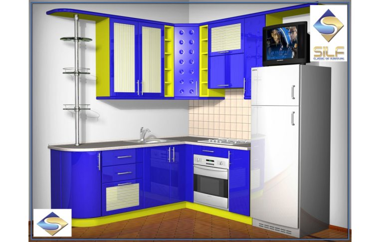 Кухни на заказ: купить Кухня под заказ Эмбер Сильф - 1