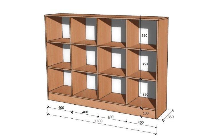 Школьные шкафы: купить Модуль стенка школьная НШ-В-2 - 1
