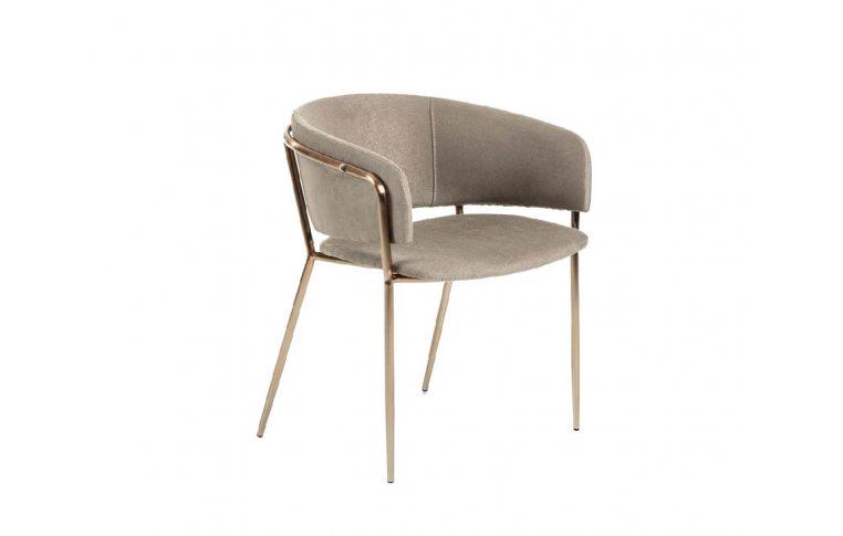 Кухонные стулья: купить Стул Konnie серо-коричневый золото La Forma - 1