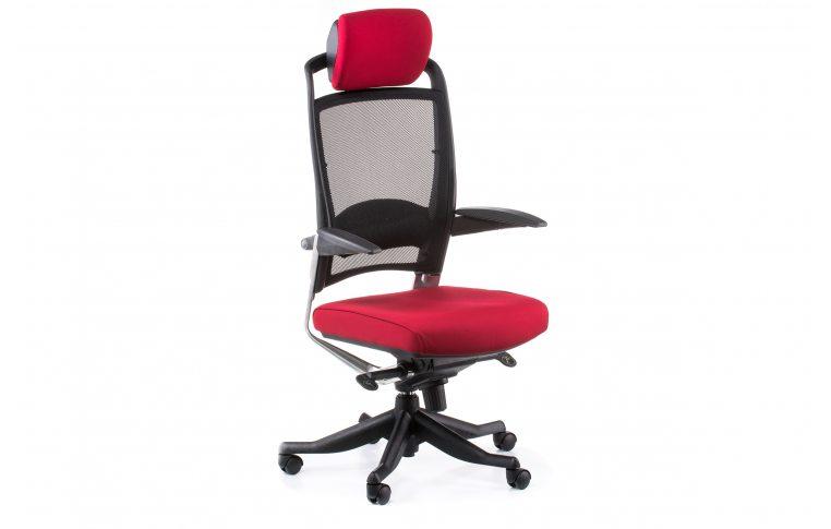 Офисные кресла: купить Кресло FULKRUM DEEPRED FABRIC, BLACK MESH - 6