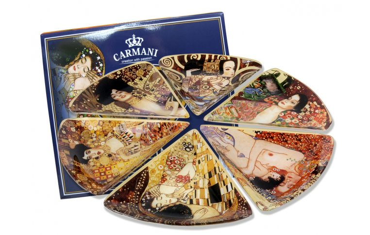 Декор для дома: купить Набор стеклянных тарелок (Г.Климт) - 1